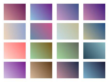 violet red: Set of gradient backgrounds. Soft color. Vector illustration