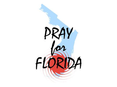 windstorm: Pray for Florida. Hurricane Irma, natural disaster. Vector illustration Illustration