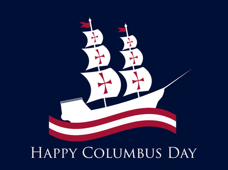 Happy Columbus Day illustration.