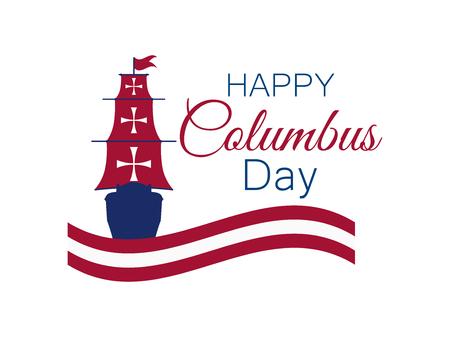 Happy Columbus Day illustration.