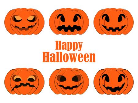 october 31: Halloween pumpkin set.
