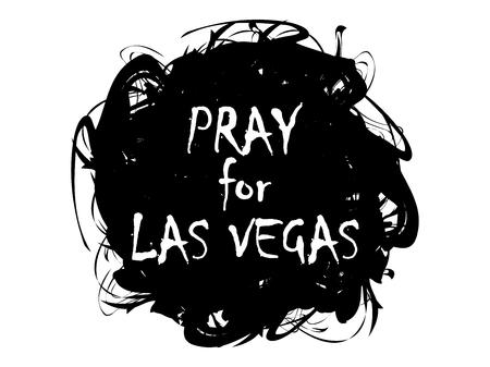 nevada: Pray for Las Vegas. Terrorist act, massacre, shooting. Volunteer help. Vector illustration