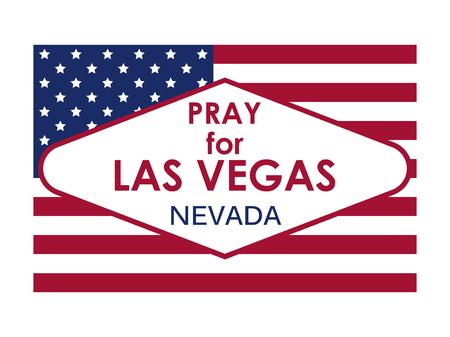 Pray for Las Vegas Stock Vector - 87353417