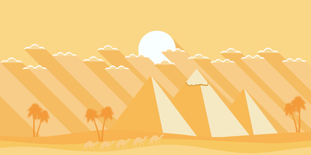 Egyptian pyramids in a flat style.