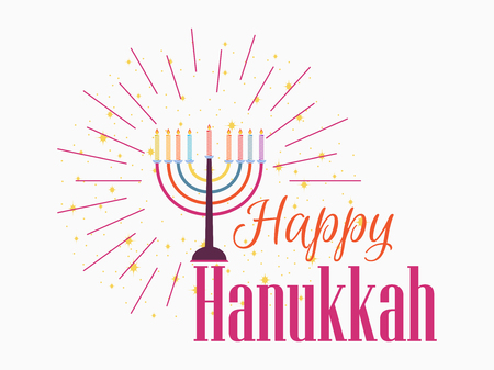 Happy Hanukkah Vector illustration Illustration