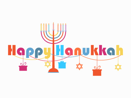 Happy Hanukkah Vector illustration Illustration