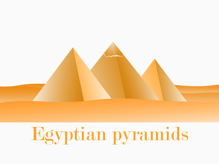 Egyptian pirates in Giza. Landscape of the desert, gradients. Vector illustration.