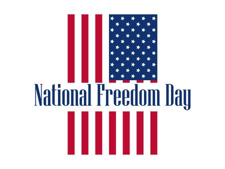 National freedom day, 1st of February. Flag USA. Celebration banner. Slavery Abolition. Illustration