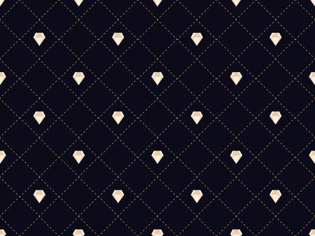 Art deco seamless pattern with diamonds. Style 1920s, 1930s. Vector illustration Ilustrace