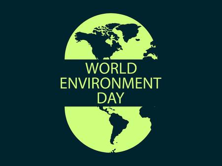 世界環境デー、バナーデザイン、ロゴデザイン。自然とエコロジーの保護ベクトルの図
