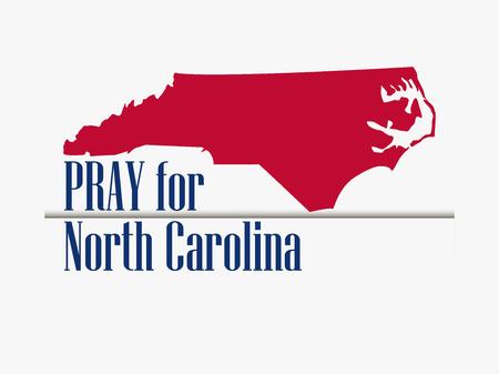 Pray for North Carolina. Hurricane, natural disaster. Storm warning. Vector illustration