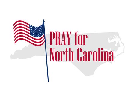 Pray for North Carolina. Hurricane, natural disaster. Storm warning. Vector illustration Illustration
