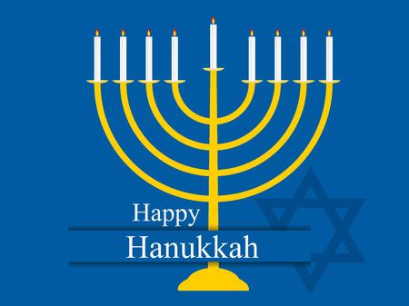 Happy hanukkah. Hanukkah candles. Menorah with nine candles. Vector illustration