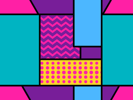Geometric seamless pattern in the memphis style of the 80s. Dots and dotted lines. Elements of style Bauhaus. Vector illustration
