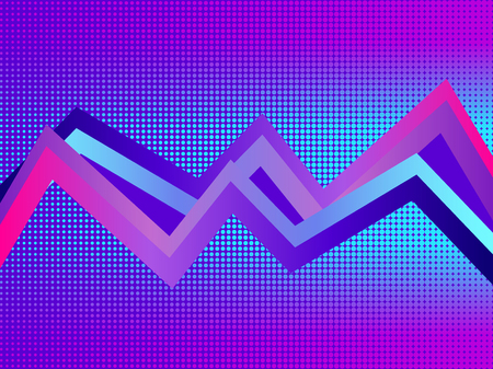 Retro futurism background. Pop art dots with violet gradient, halftone. Synthwave. Retrowave. Vector illustration