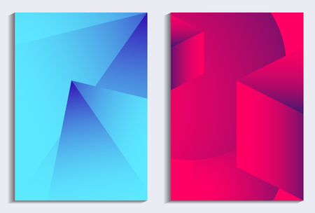 Liquid gradient poster set. Modern background with dynamic effect. Vector illustration