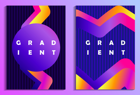 Poster with liquid wave and colorful gradients. Synthwave, futurism background. Retrowave. Vector illustration