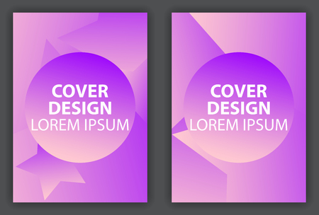 Cover design poster with a minimalist design. Brochure design template with gradient. Vector illustration 일러스트