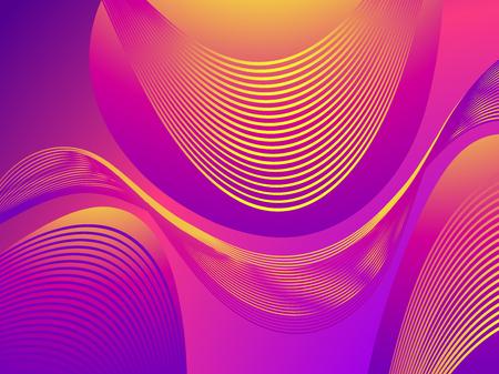 Colorful liquid shape. Fluid concept design. Abstract geometric gradient background. Vector illustration