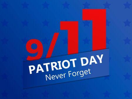 911 Patriot Day. Never forget, september 11, 2001. Vector illustration Иллюстрация