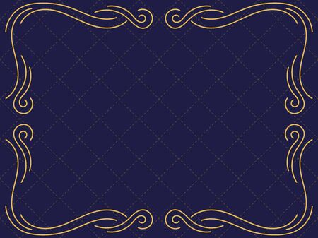 Vintage frame with curved lines art deco style. Design a template for invitations, leaflets and greeting cards Vector illustration