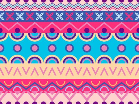 Ethnic seamless pattern. Tribal textiles, hippie fashion style for fabric, clothing and wallpaper. Vector illustration