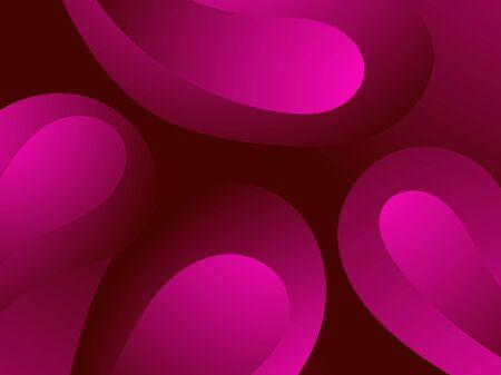 Red blood cells. Blood clot under the microscope, erythrocyte, hemoglobin molecules. Vector illustration Çizim