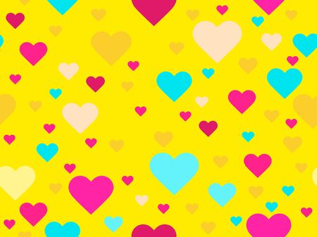 Hearts seamless pattern. Happy Valentine's day, 14th of February. Background for greeting card, wrapping paper, promotional materials. Vector illustration