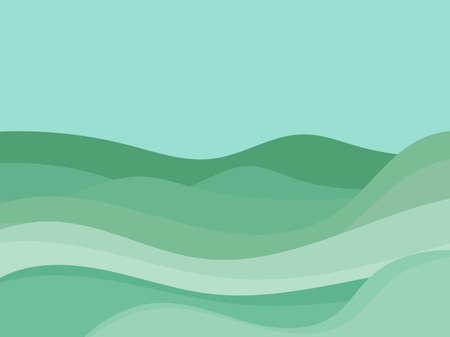Natural landscape in a minimalistic style. Plains and mountains, fields and meadows. Typographic boho decor for prints, posters and interior design. Mid Century modern decor. Vector illustration
