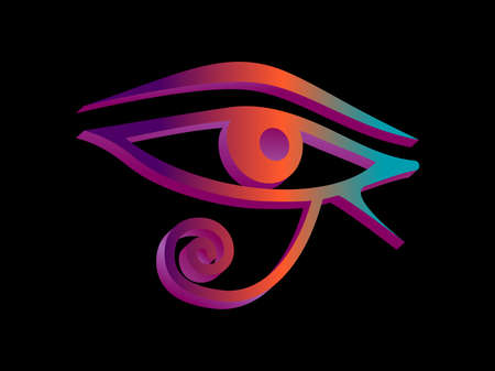 Eye Of Horus isometric 3d style. Eye of Ra. Ancient Egyptian symbol of protection. Vector illustration