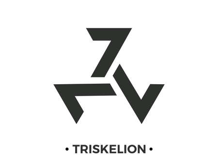 Triskelion Celtic Symbol. Triple spiral. Isolated on white background. Vector illustration