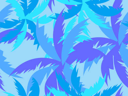 Palm leaves seamless pattern. Tropical jungle, exotic background. Typography background for advertising, postcards, poster and banner. Vector illustration