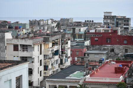 City scape in Vedado Havana Cuba near El Malecon Banco de Imagens