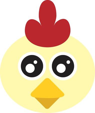 Cute Chicken Illustration