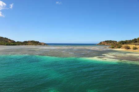 Caribbean scene of flats bewteen islands