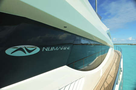 Motor yacht side deck Editorial
