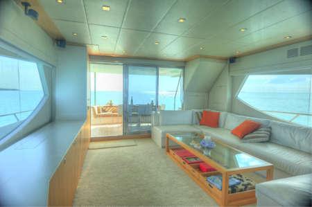 Saloon of stylish motor yacht Editorial