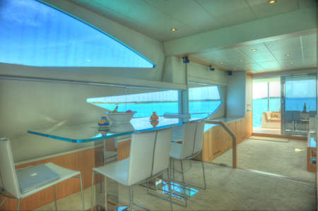 Motor yacht stylish interior