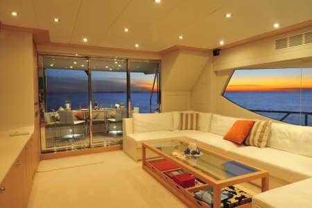 Motor yacht saloon