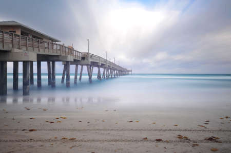 fishing pier: Dania fishing Pier, Florida Stock Photo