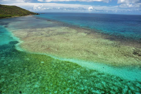 Coral Reef in the Caribbean Stock Photo