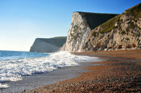 waves  pebble: Dorset Coast and Cliffs