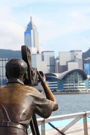 hk: avenue of stars in victoria harbor in Tsim Sha Tsui (hk)