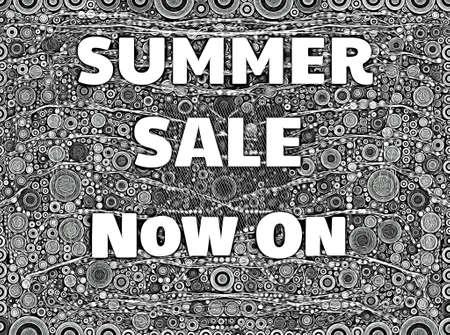 Summer sale sign monochrome