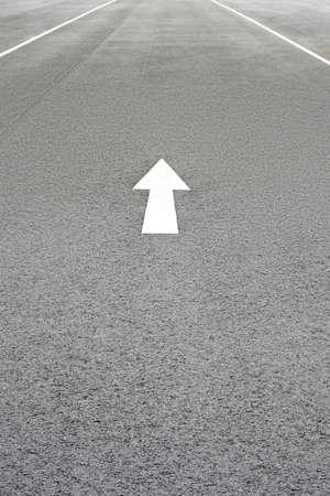 One way single lane road arrow background