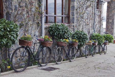 decorative bicycles Stock Photo