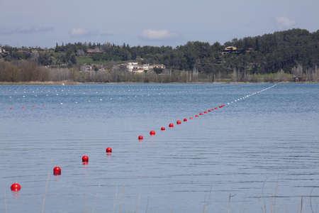 buoys: buoys in the lake