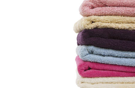 multicolored pile of towels