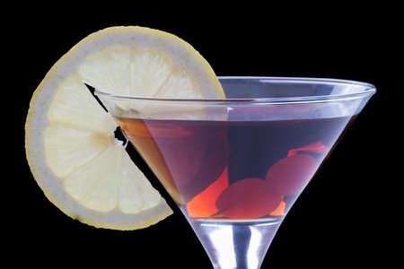 vermouth with a lemon slice