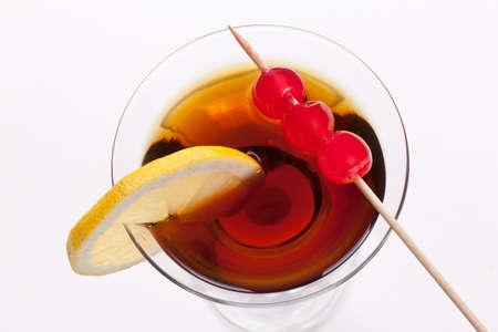 verm�: vermut y las cerezas Foto de archivo